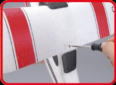 ウイングはボルトでしっかり止めるので強度も高く取り付けも簡単