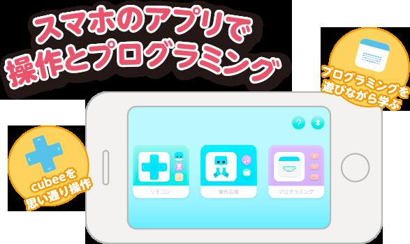 スマホのアプリで操作とプログラミング